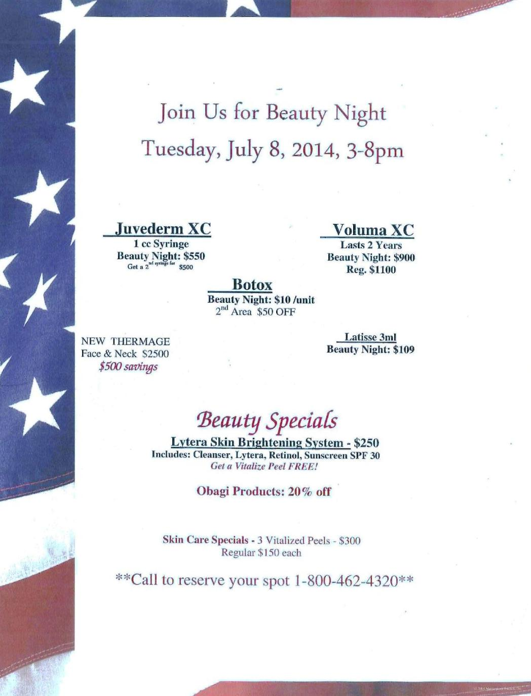 Join Us for BEAUTY NIGHT